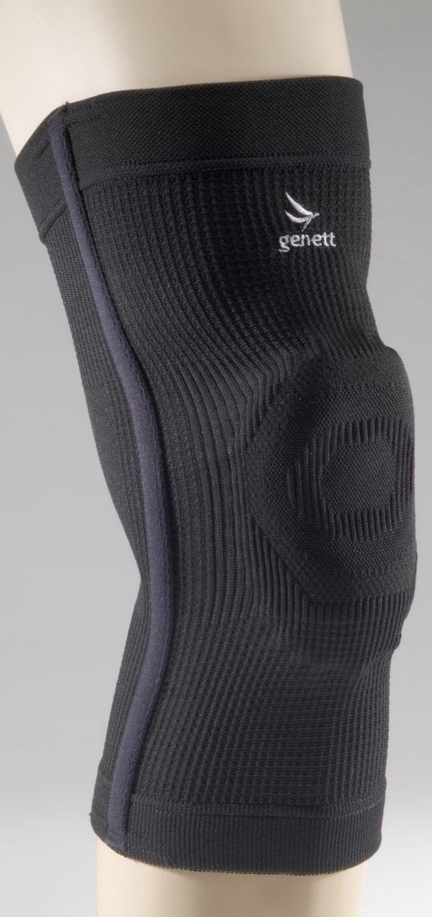【科技織品】genett能量透氣矽膠骨架護膝套-矯正型 1