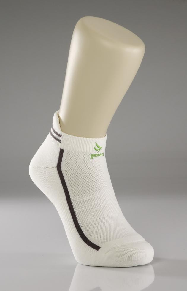 鍺能量氣墊船型襪(白) 1