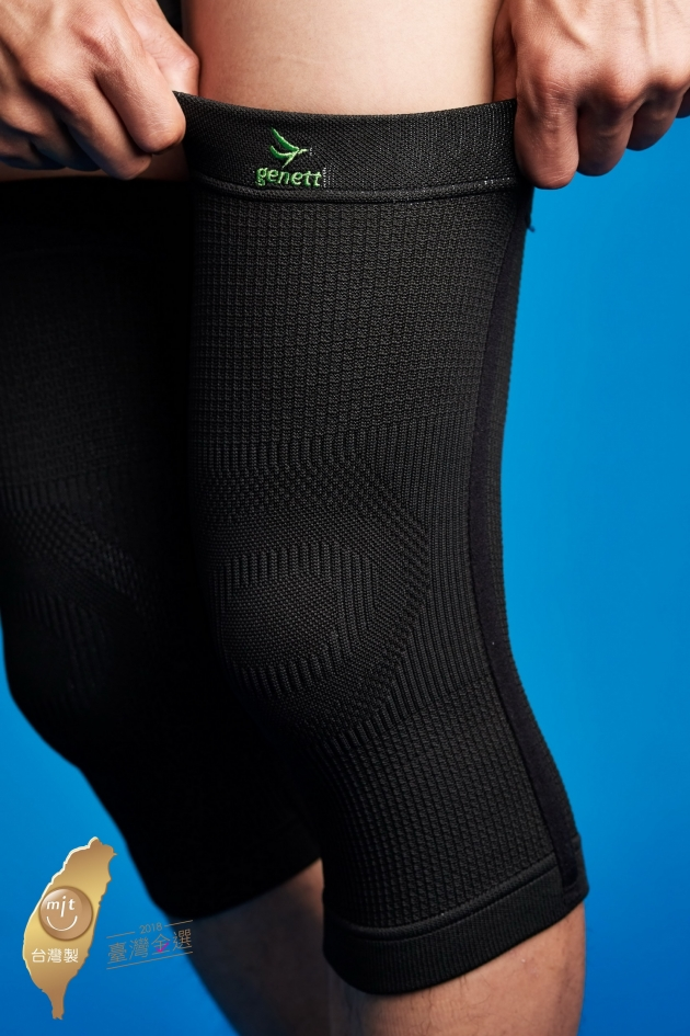 【台灣金選奬-科技織品】genett能量透氣護膝套-加強型 1